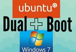 logotipo do ubuntu e do windows 7